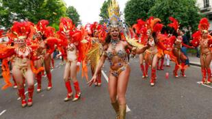 Le carnaval de Notting Hill, Londres, le 27 août 2012
