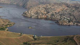 La ville de Matadi, capitale de la province du Kongo central en RDC.