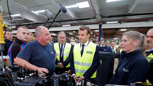 Whirlpool employees (here in 2017) are due to meet French President Emmanuel Macron again on 22 November, 2019 to ask what happened to their jobs.