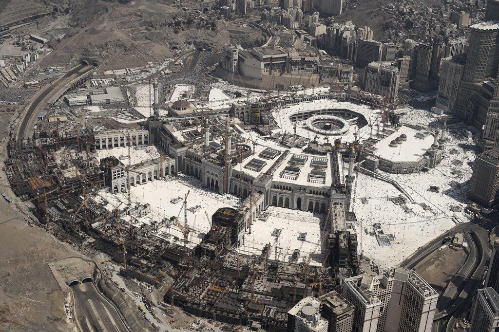 ទិដ្ឋភាពទេសភាពទូទៅនៃទីក្រុង La Mecque ថ្ងៃទី ២៥កញ្ញា២០១៥ នៅមុនមួយថ្ងៃនៃព្រឹត្តការណ៍សោកនាដកម្មរត់ជាន់គ្នា