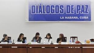 Diálogos de paz, en La Habana (Cuba) entre la delegación de las FARC y la del gobierno de Juan Manuel Santos
