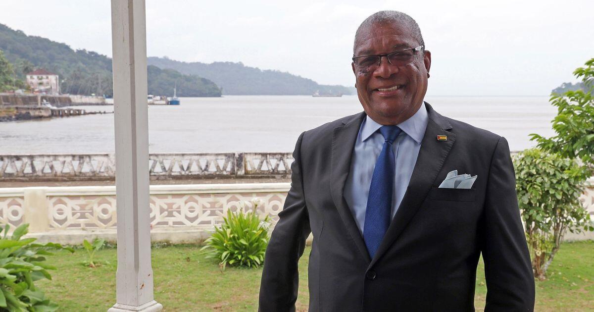 O presidente  Evaristo Carvalho