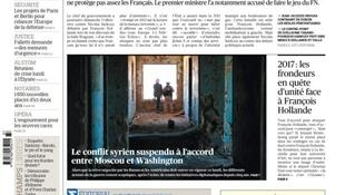 Capa do jornal francês Le Figaro desta segunda-feira, 12 de setembro de 2016.
