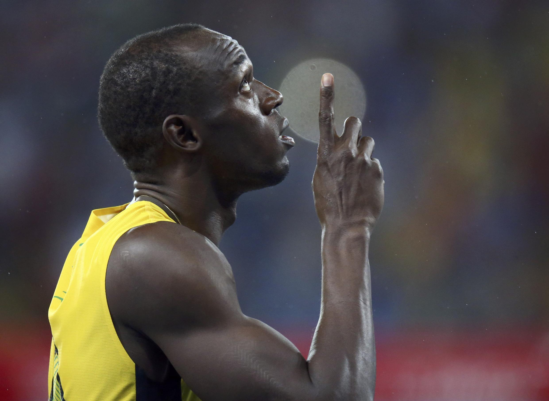 Usain Bolt, tricampeão olímpico dos 200 metros rasos.