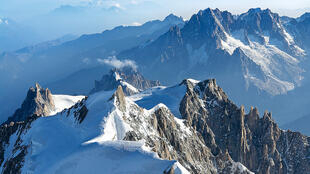 Mont Blanc in the French Alps.