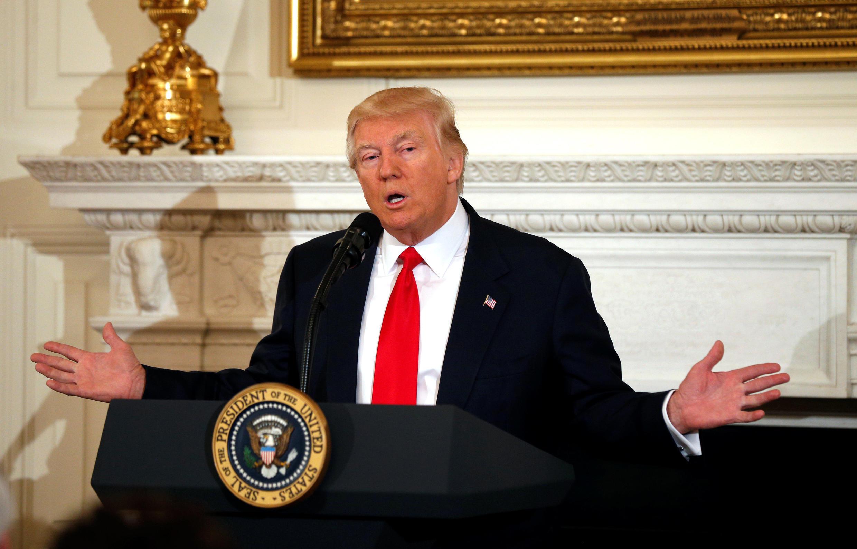 Tổng thống Donald Trump tại Nhà Trắng ngày 27/02/2017.