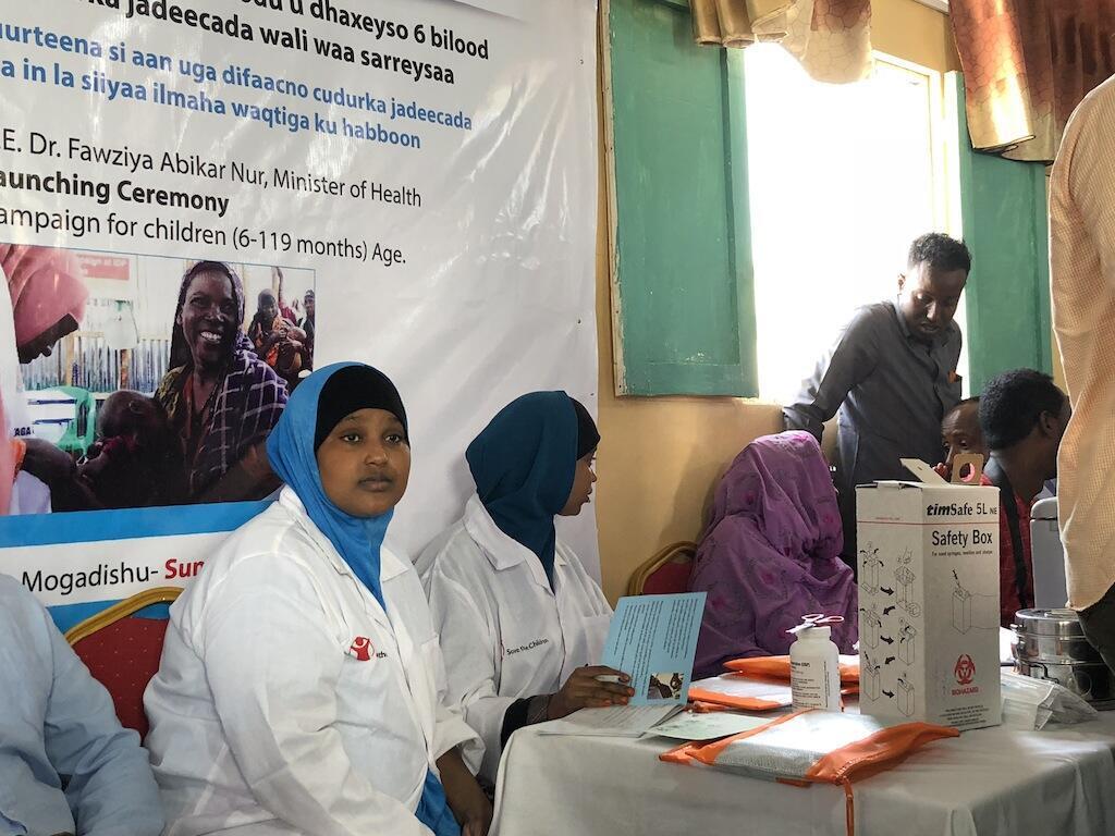 Tawagar Jami'an lafiya da ke rigakafin cutar kyanda a Somalia