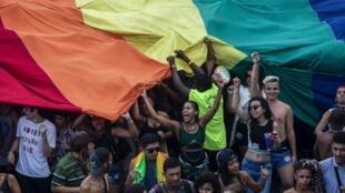 Gay Pride en Copacabana, Río de Janeiro, el 30 de septiembre de 2018.