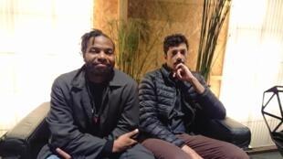 Ailton e Tiago Paulo da banda moçambicana Continuadores nas Transmusicais de Rennes. 6 de Dezembro 2019
