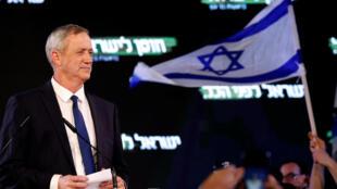 Benny Gantz, antiguo jefe del Estado Mayor, lanzó su campaña electoral el 29 de enero de 2019 en Tel Aviv.