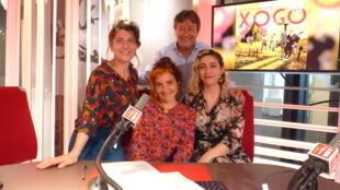Miembros de Radio Tutti & Barilla Sisters  con Jordi Batallé en RFI