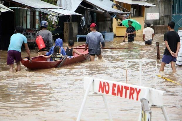 菲律賓中部比科爾地區(Bicol)遭熱帶低壓暴雨襲擊。2018年12月30日