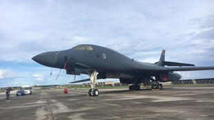 Một chiến đấu cơ B1-B tại căn cứ Andersen, đảo Guam, 17/08/2017.