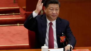 Chủ tịch Trung Quốc Tập Cận Bình biểu quyết tại phiên bế mạc Đại Hội Đảng Cộng Sản Trung Quốc - Bắc Kinh ngày 24/10/2017.