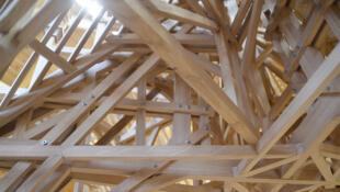 Макет «леса» — несущей конструкции — собора Парижской Богоматери, выполненный мастерами компаньонажа Les Compagnons du Tour de France