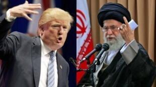 دونالد ترامپ، رئیس جمهوری آمریکا، و علی خامنهای، رهبر جمهوری اسلامی ایران