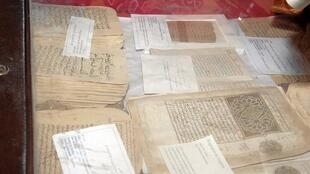 Some of Timbuktu's famous manuscripts, May 2010