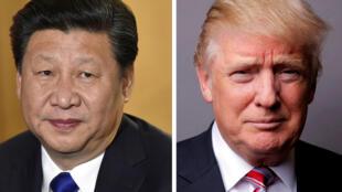 Chủ tịch Trung Quốc Tập Cận Bình (T) và tổng thống Mỹ Donald Trump.