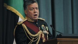 Le roi Abdallah II de Jordanie, le 10 février 2013, à Amman.
