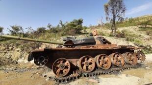 Ethiopie - Tigré - tank militaire - 0-Véhicules détruits10