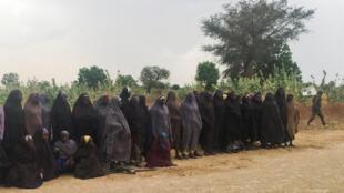 Wasu daga cikin 'yanmatan Chibok da aka yi musanyan mayakan Boko Haram da su