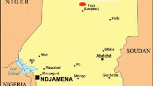 La ville de Faya Largeau est située au nord du Tchad.