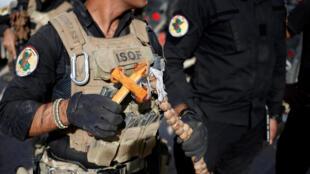 Un soldado cristiano de las fuerzas especiales de Irak en Bartella, el 22 de octubre de 2016, al este de Mosul.
