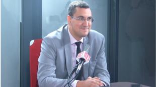 M'Jid El Guerrab, député (Agir ensemble) des Français de l'étranger (Maghreb et Afrique de l'Ouest) dans les studios de RFI, le 29 juillet 2020.
