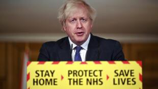 Thủ tướng Boris Johnson thông báo biến thể virus corona phát hiện tại Anh gây tử vong cao hơn, Luân Đôn, 22/01/2021.