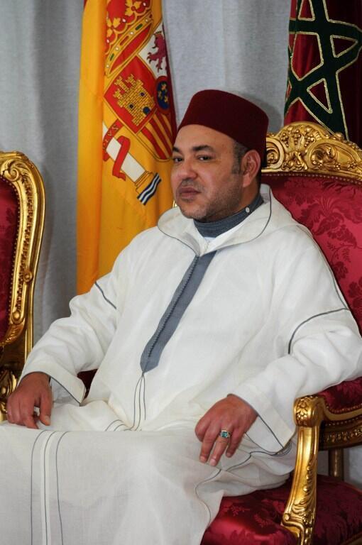 Mohammed VI, rei de Marrocos, em Julho de 2013 em Rabat.