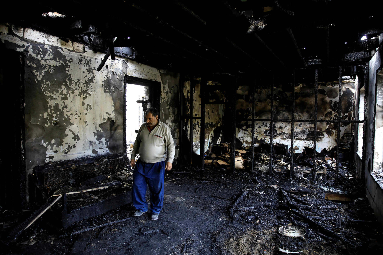 Жители города Барда (Азербайджан) после бомбардировки, 7 октября 2020 г.