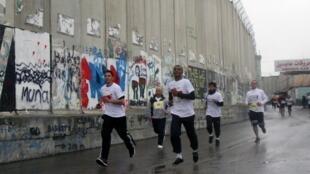 Le mur séparant les Territoires Palestiniens d'Israël.