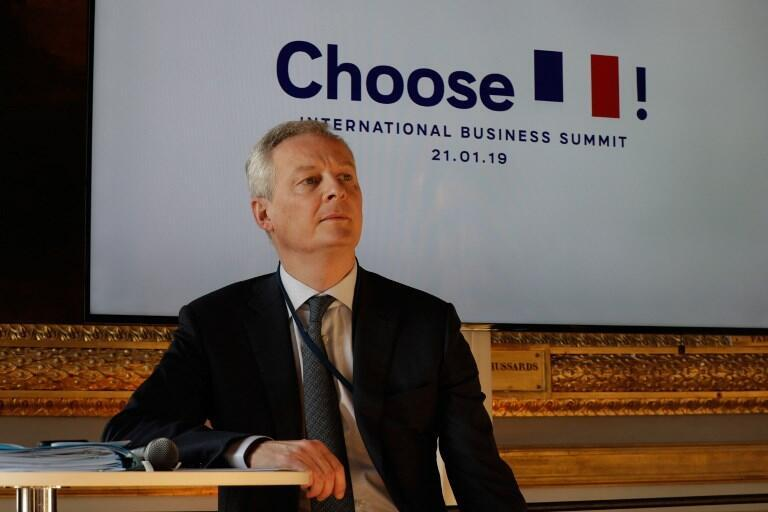 Le ministre français de l'Economie Bruno Le Maire avant l'ouverture du sommet sur l'attractivité de la France, le 21 janvier 2019, à Versailles. (photo d'illustration)
