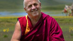 Le moine bouddhiste Matthieu Ricard au Tibet.