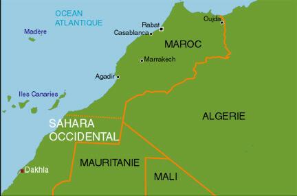 Le Sahara Occidental.