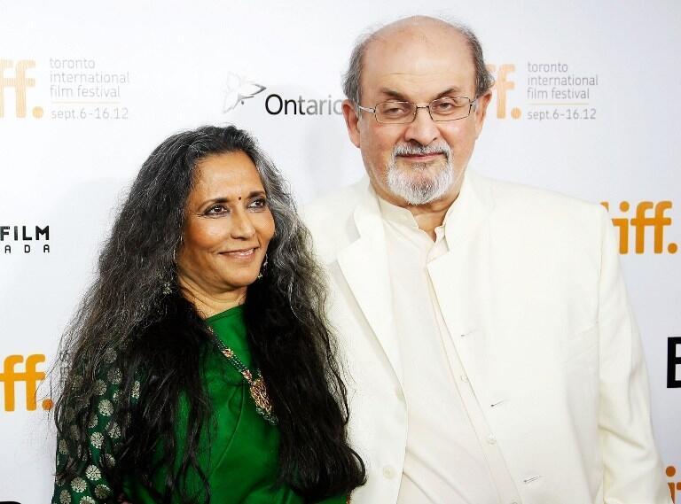 Salman Rushdie au Canada avec la réalisatrice des «Enfants de minuit», le 9 septembre 2012.