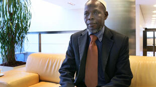 L'imam Omar Kobine Layama, chef de la conférence islamique de Bangui.