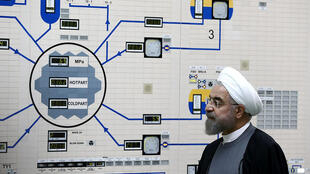 Президент Ирана Хасан Рухани на атомной станции в Бушере в 2015 г.