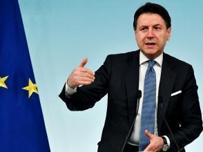 Le président du Conseil italien Giuseppe Conte, le 4 mars 2020 à Rome.