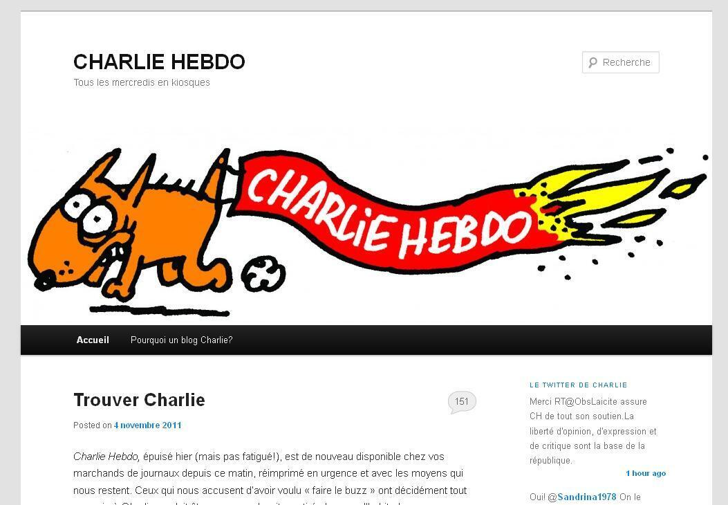 A cartoon from Charlie Hebdo's blog