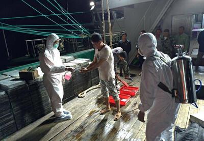 台灣淡水海巡隊2019年5月5日在富貴角北方外海約18.7浬處,發現1艘越界中國大陸籍漁船,登檢清查後在船上搜出31公斤豬肉,立即通報防檢人員銷毀並消毒船隻,以防堵非洲豬瘟。