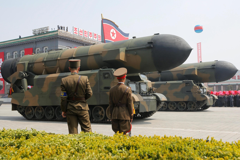 Bắc Triều Tiên phô trương vũ khí. Ảnh minh họa.