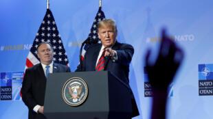 El presidente estadounidense, Donald Trump, urgió este miércoles a sus aliados de la OTAN a destinar un 4% de su PIB nacional al gasto militar.