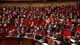 General view of the National Assembly during a debate to extend a state of emergency, in Paris, France, 19 November 2015