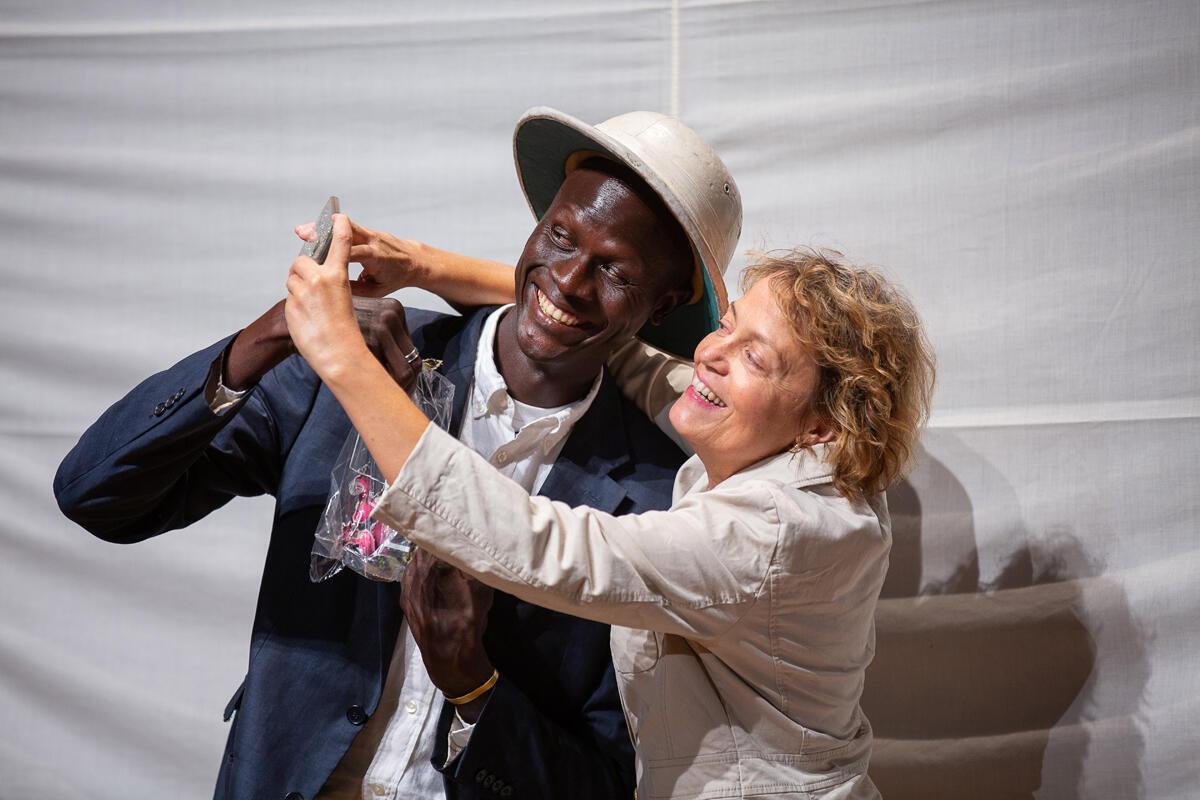 «La Fin du monde évidemment». Une production de la Cie FOR et de l'École internationale de Théâtre du Bénin, présentée au festival des Francophonies, Les Zébrures d'automne, à Limoges.