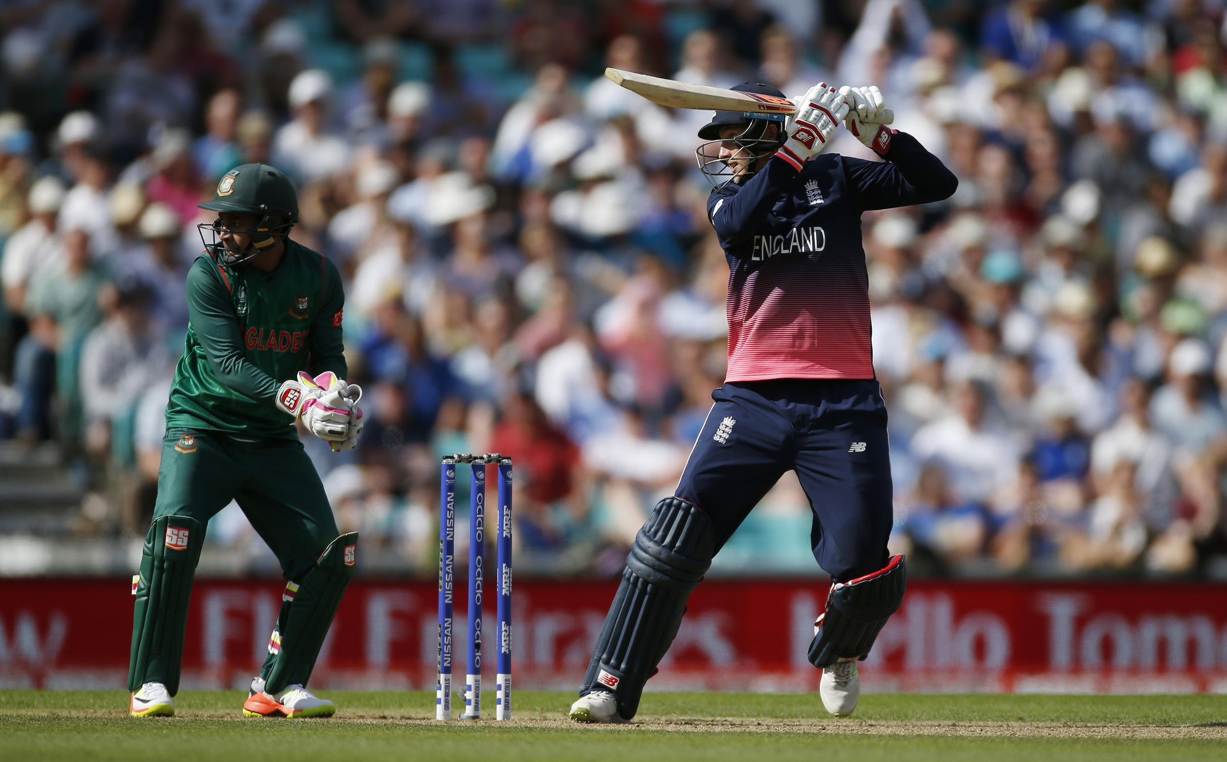 England's Joe Root in action at 2017 ICC Champions Trophy