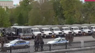 Концентрация сил полиции на Болотной площади 06/05/2014