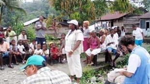 Desplazados por combates en el departamento de Nariño, Colombia (2006)