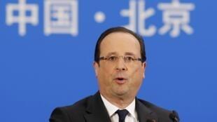 Франсуа Олланд в Пекине 25/04/2013