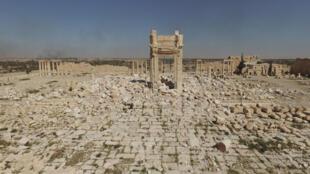 Imagem em 3D de Palmira, na Síria.